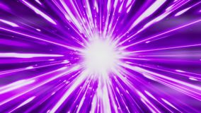 Dynamic light tunnel. Bright lines quickly move away from us. Looped. Bright lines are moving away from us. Lines of light form a dynamic bright tunnel in space stock video footage
