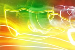 Dynamic lights in dark background . High speed road in night time abstraction stock images