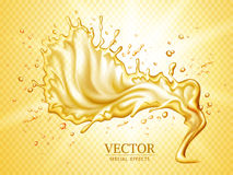 Dynamic liquid effect Royalty Free Stock Photography