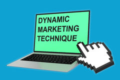 Dynamic Marketing Technique concept Royalty Free Stock Photo