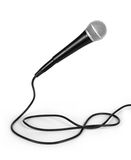 Dynamic mic with a curled cable Royalty Free Stock Photo