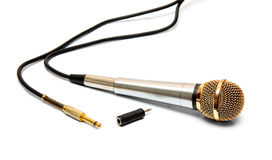 Dynamic microphone. Isolated on white background Royalty Free Stock Images