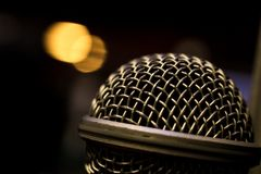 Dynamic Microphone capsule head stock photos