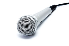 Dynamic microphone for karaoke,  isolation Stock Image