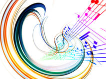 Dynamic Music Abstract Royalty Free Stock Photo
