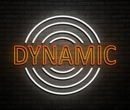 Dynamic neon concept. Stock Photo