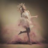 Dynamic photo of a stunning blonde beauty Stock Photo