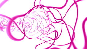 Dynamic pink strokes tunnel, stock footage. Video stock video