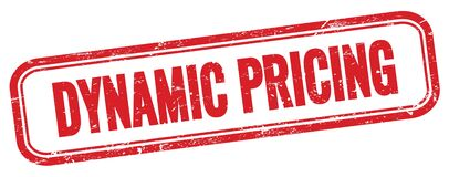Free DYNAMIC PRICING Text On Red Grungy Vintage Stamp Stock Photography - 214766302