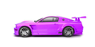Dynamic purple sport car side view Royalty Free Stock Photo