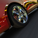 Dynamic racing car and the lights Royalty Free Stock Photography