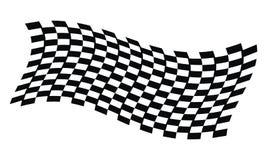 Dynamic Racing Flag. Logo Design Template Vector Stock Photography