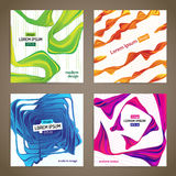 Dynamic ribbons Stock Images