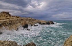 Dynamic scene sea Stock Photography