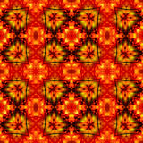 Dynamic seamless infernal pattern with stylized fire flowers Royalty Free Stock Photos