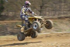 Dynamic shot of quad jump. Royalty Free Stock Photo