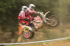Dynamic shot of sidecar jump Stock Images
