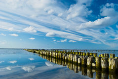 dynamic sky on the sea Stock Photography