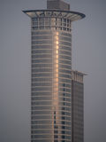 Dynamic skyscraper in the early morning light in Frankfurt, Germ Royalty Free Stock Photos