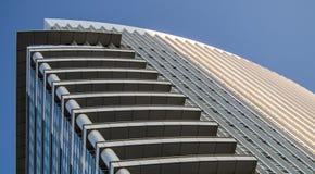 Dynamic skyscraper in the exhibition site in Frankfurt, Germany Stock Image
