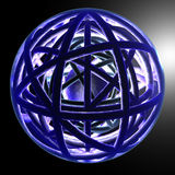 Dynamic Sphere - level 1. Abstract 3D render Royalty Free Stock Photo