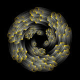 Dynamic spirals Royalty Free Stock Image