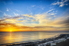 Dynamic sunset in South Australia Royalty Free Stock Photos