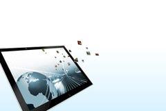Dynamic Tablet computer illustration Stock Image