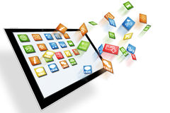 Dynamic Tablet computer illustration Royalty Free Stock Photo
