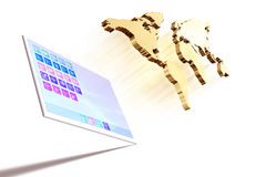 Dynamic Tablet computer illustration Stock Image