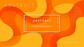 Dynamic textured background design in 3D style with orange color. EPS10 Vector background stock illustration