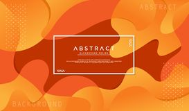 Dynamic textured orange background stock illustration