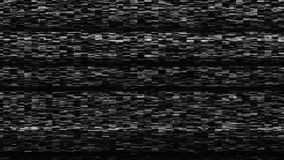 Dynamic tv noise, bad tv signal, black and white, monochrome, 3d rendering backdrop royalty free stock images