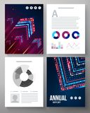 Dynamic vector template for an annual report Royalty Free Stock Images