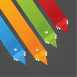 Dynamic vector template. Folded paper arrows with much space for Royalty Free Stock Photography