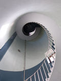 Dynamic view of high lighthouse staircas Stock Photo