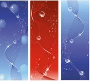 Dynamic Wave Background. Three dynamic Wave Background in blue and red Royalty Free Stock Photography