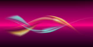 Dynamic waves. On red background stock illustration