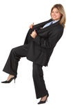 Dynamic young smiling businesswoman Stock Images