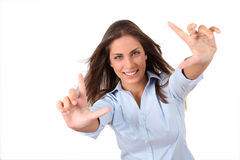 Dynamic young woman Royalty Free Stock Image