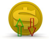 Dynamica van de Amerikaanse dollar stock illustratie