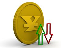 Dynamica van de Chinese yuans stock illustratie