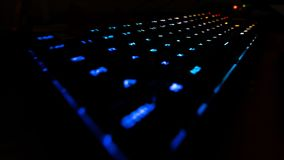 Dynamically lightened keyboard stock photography