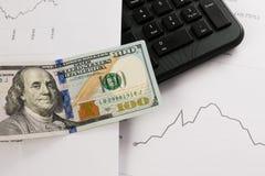 Dynamics of exchange rates. Dollar chart Stock Photo