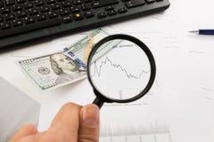Dynamics of exchange rates. Dollar chart Stock Photos