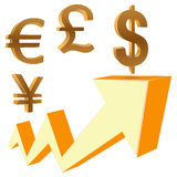 Dynamics of financial growth Stock Photo
