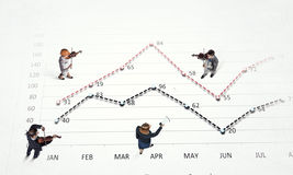 Dynamics of growth in business Stock Image
