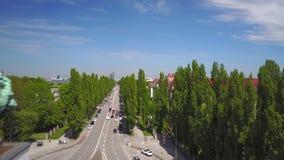 Dynamiczna antena strzelał Siegestor w Monachium zbiory wideo