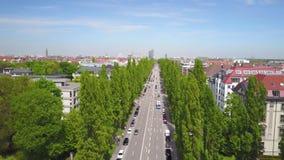 Dynamiczna antena strzelał Siegestor w Monachium zdjęcie wideo