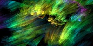 Dynamiczna kolorowa abstrakcja Fotografia Royalty Free